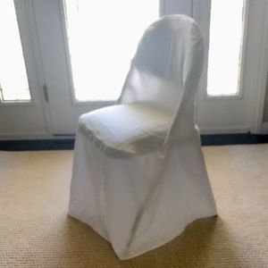 Chair Covers 10 White Weddings Party Dinner NWT